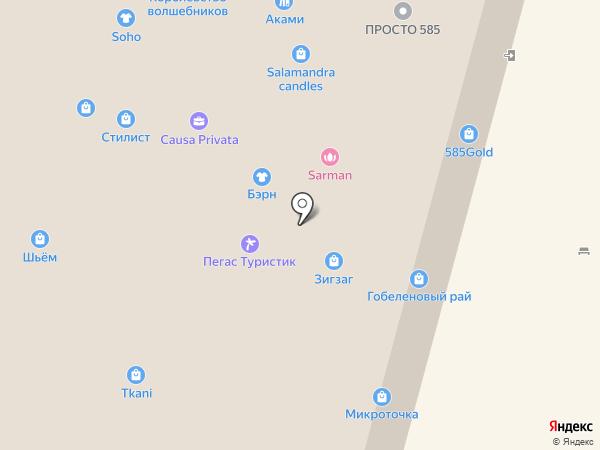 Зима Летто на карте Твери