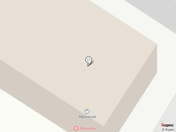 Афанасий на карте Твери