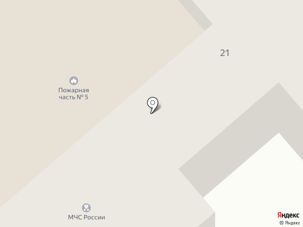 Пожарная часть №5 на карте Орла