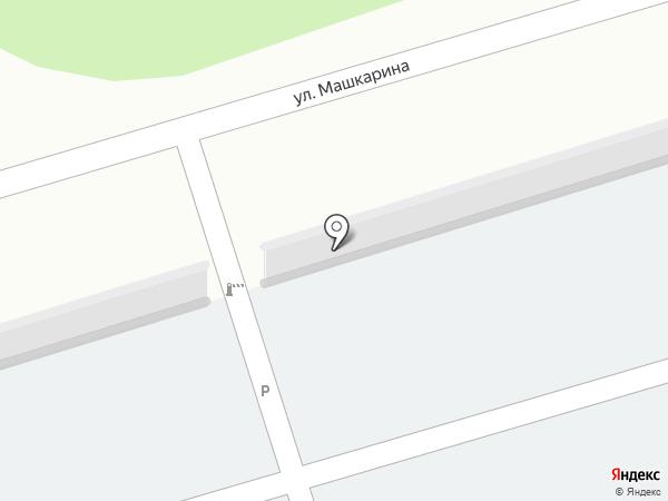 Автостоянка на ул. Машкарина на карте Орла