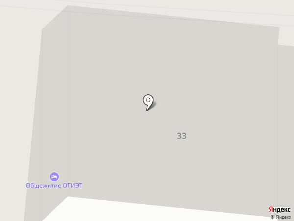 Общежитие на карте Орла