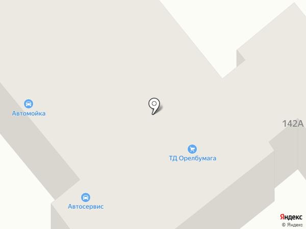 Орелбумага на карте Орла