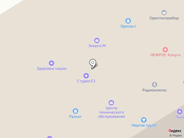 Геотех-инструмент на карте Орла