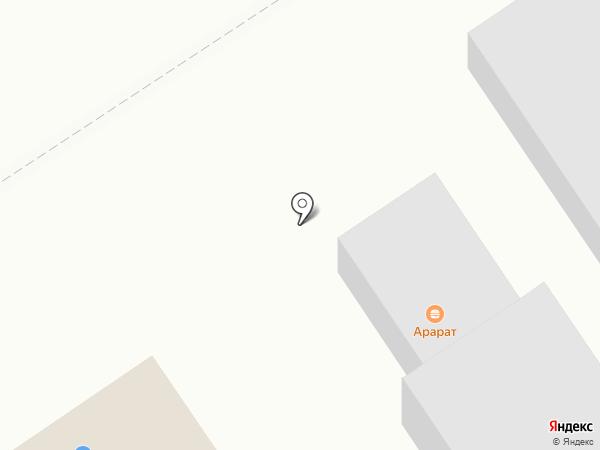 Автостоянка на Центральной на карте Воротынска