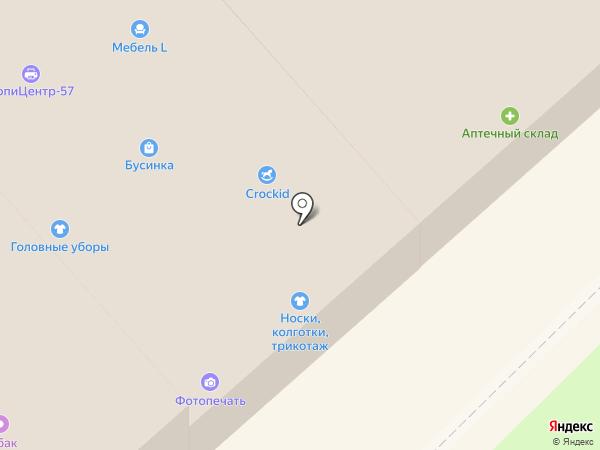 Магазин текстиля на карте Орла
