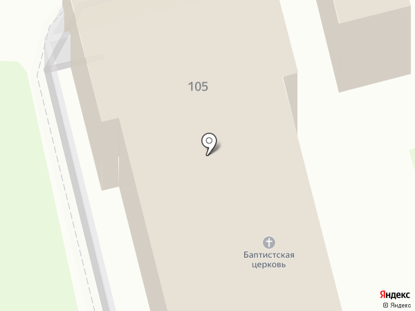 1-я церковь ЕХБ г. Орла на карте Орла