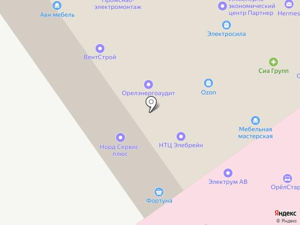 Еврокомплект на карте Орла