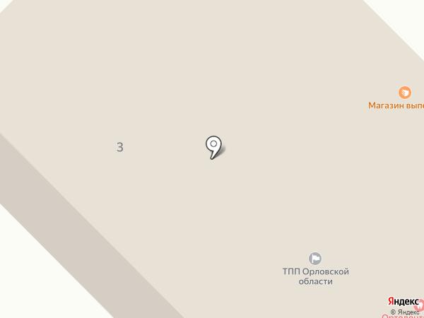 Орловская торгово-промышленная палата на карте Орла