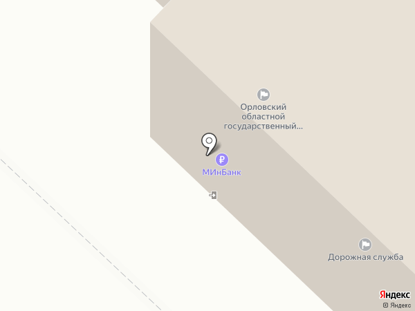 Дорожная служба, ГУП на карте Орла