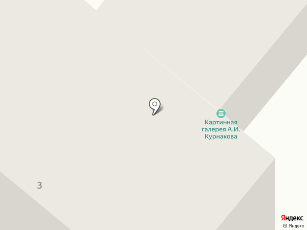 Картинная галерея А.И. Курнакова на карте Орла