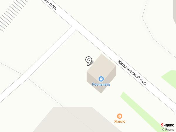 Продовольственный киоск на карте Орла