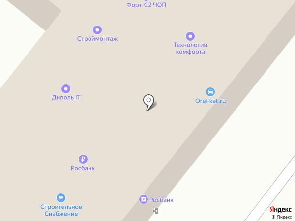 Росбанк, ПАО на карте Орла