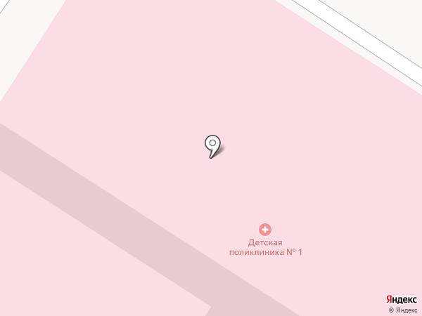 Детская поликлиника №1 на карте Орла