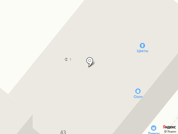 Цветочный базар на карте Орла