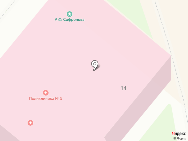 Поликлиника №5 на карте Орла