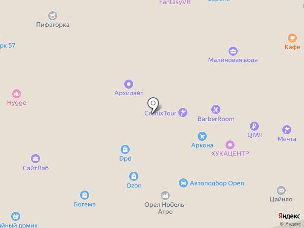 Онегин на карте Орла