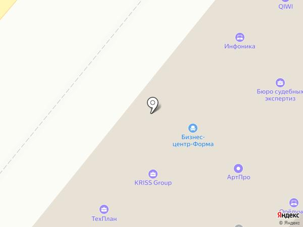 Федеральная сетевая компания на карте Орла