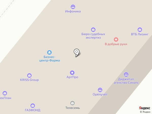 Информационный банк недвижимости на карте Орла