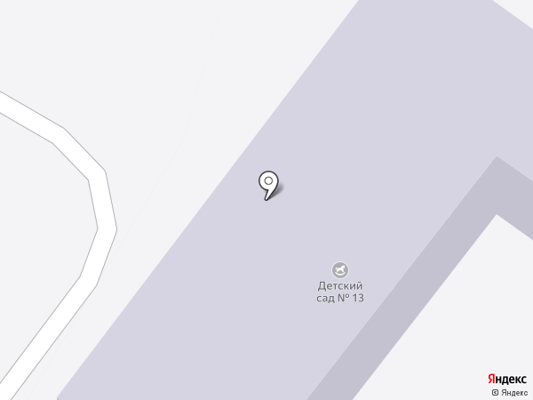 Детский сад №13 на карте Орла