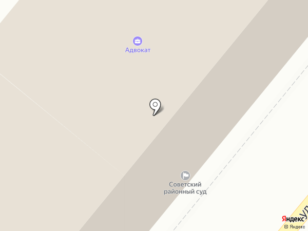 Советский районный суд г. Орла на карте Орла