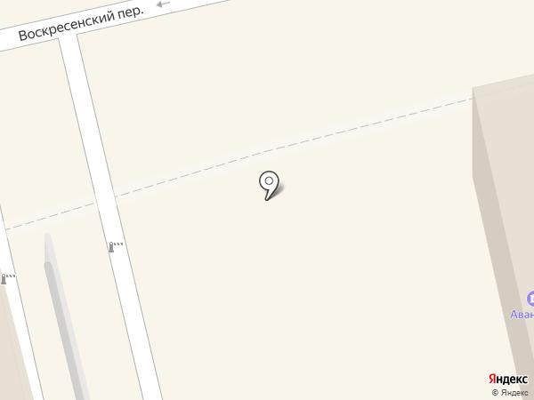Киоск фруктовый в Воскресенском переулке на карте Орла