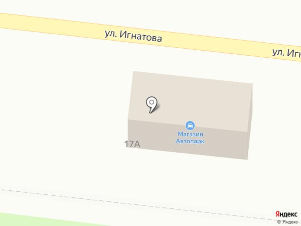 Автопарк на карте Орла