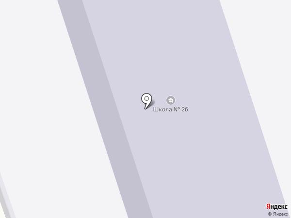 Средняя общеобразовательная школа №26 на карте Орла