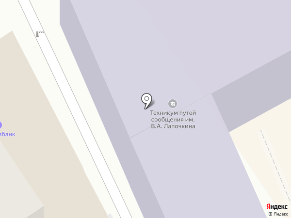 Орловский техникум путей сообщения им. В.А. Лапочкина на карте Орла