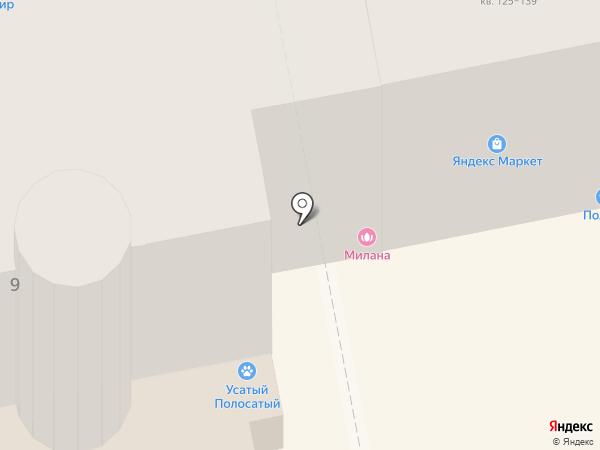 Милана на карте Орла