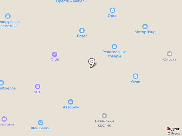 Метрика на карте Орла