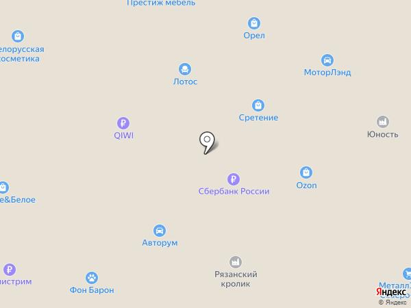 Престиж мебель на карте Орла
