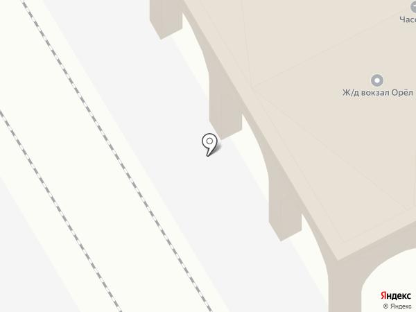 Железнодорожный вокзал на карте Орла