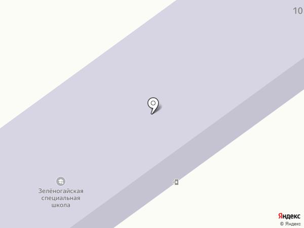 Зеленогайський спеціальний загальноосвітній навчально-виховний комплекс на карте Высокого