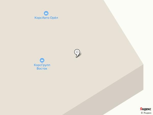 Орелоблавтотехобслуживание, ЗАО на карте Орла