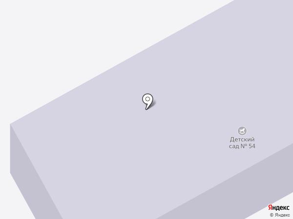 Детский сад №54 на карте Орла