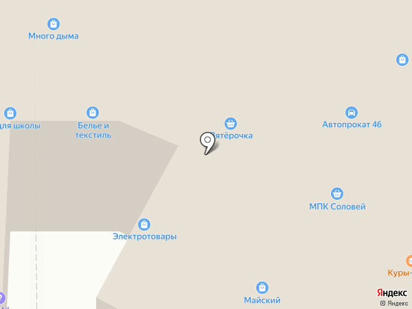 Магазин электротоваров на карте Курска