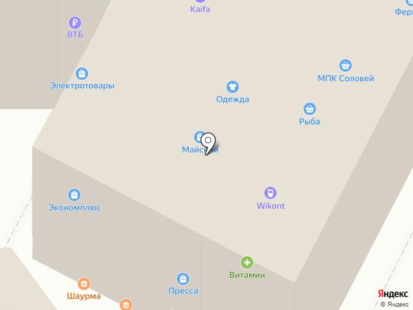 Магазин свежей выпечки на карте Курска