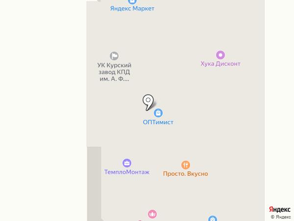 Буратино на карте Курска