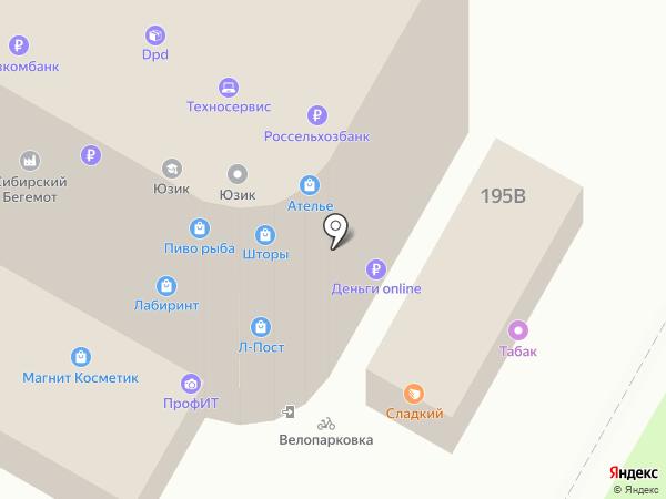 Магазин нижнего белья на карте Курска