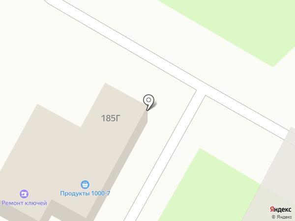Дворик на карте Курска