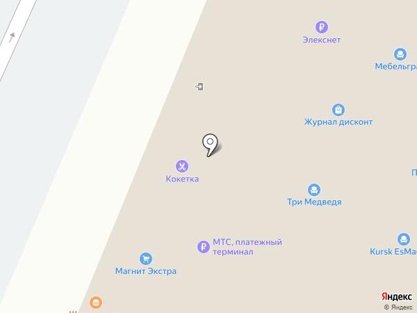 Поворот на карте Курска