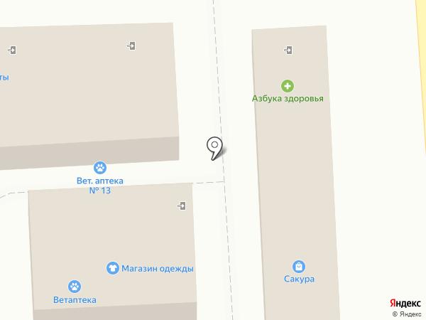 Сакура на карте Курска