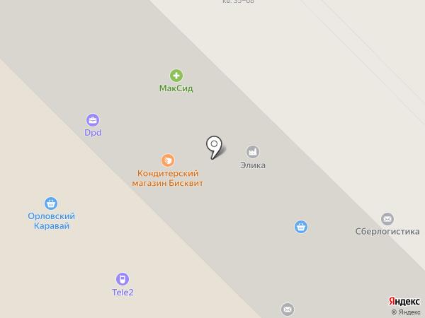 Бисквит на карте Орла