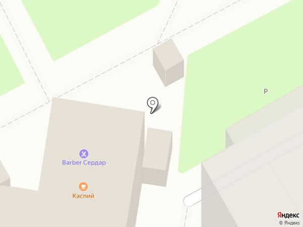 Каспий на карте Курска