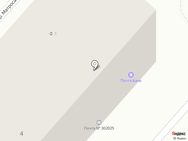 Почтовое отделение №25 на карте Орла