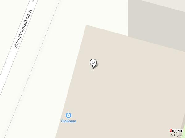 Любаша на карте Курска