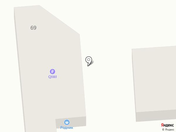 Родник на карте Курска