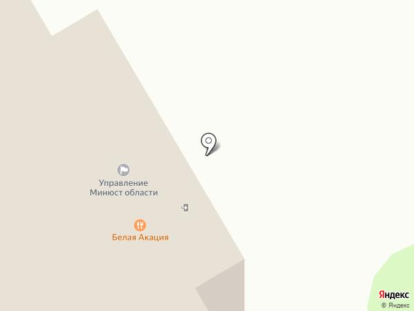 Белая акация на карте Курска