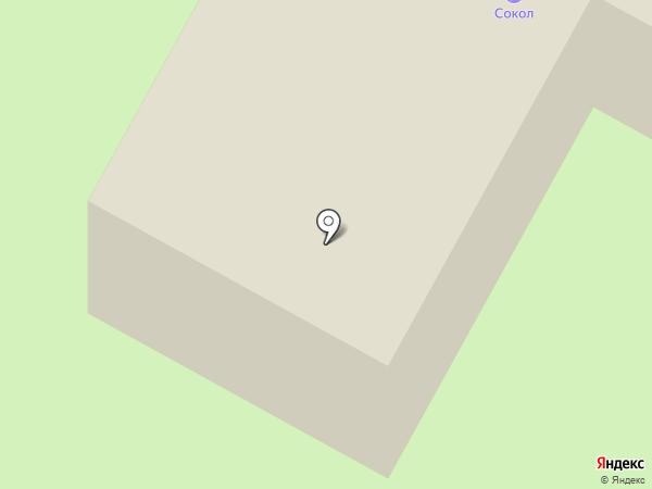 Сокол на карте Калуги