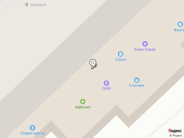 Спутник на карте Калуги